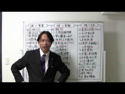 竹内の日本史 戦略図解ボード #041 正徳の治と享保の改革