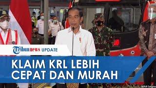 Jokowi Klaim KRL Jogja-Solo Lebih Cepat dari Prameks dan Biaya Operasi Jauh Lebih Murah
