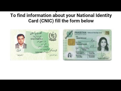 Download Check Online Cnic Id Card Verification And Detail