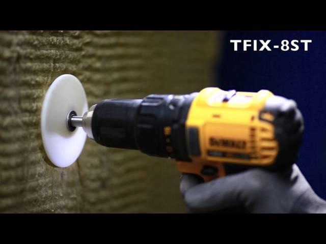 TFIX 8ST Skrūvējams siltumizolācijas stiprināšanas dībelis.