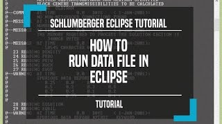 Schlumberger Eclipse tutorial, How to run data file