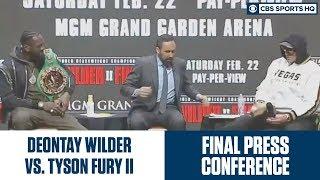 Deontay Wilder vs. Tyson Fury FINAL Press Conference   CBS Sports HQ