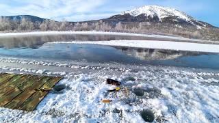 Зимняя рыбалка на хариуса в декабре