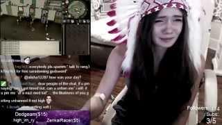 Alisha12287 breaks down, cries & ends stream suddenly (emotional)