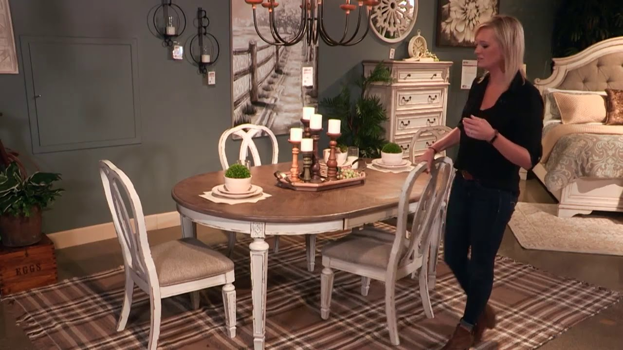 Realyn White Oval Extendable Dining Room Set From Signature Design By Ashley