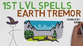 1st Level Spell #30: Earth Tremor (5E)