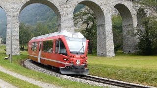 preview picture of video 'Around the Brusio Viaduct & Spiral, Switzerland'