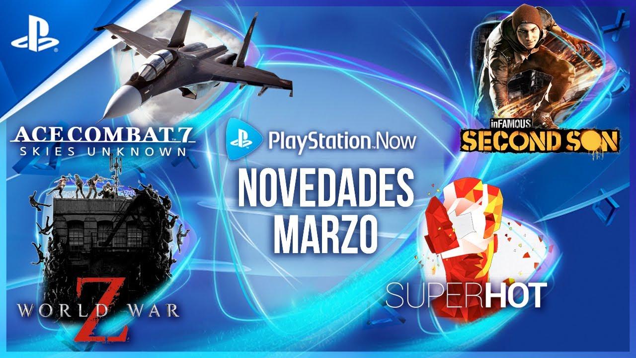 Juegos de PlayStation Now de marzo: World War Z, Ace Combat 7: Skies Unknown, inFamous: Second Son y Superhot
