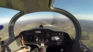 Sling 4 F-WHNT en vol vue de l'intérieur.