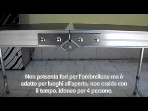 Tavolo pieghevole in alluminio da campeggio varie misure HOMFA