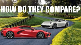 2020 C8 Corvette VS  2020 992 Porsche 911 | Past & Present Detailed Comparison | 0-60 | Horsepower