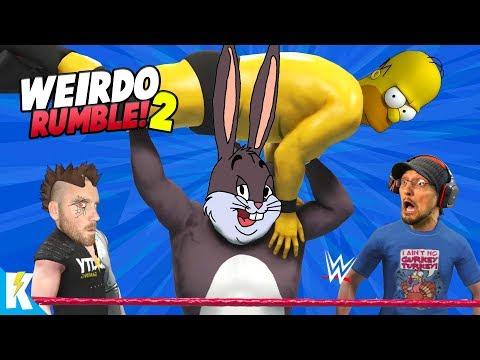 WEIRDO Royal Rumble 2 in WWE 2k19 (BIG CHUNGUS, FGTEEV DUDDY RETURNS!) KIDCITY GAMING
