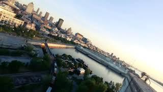 Grain Silos 5. #fpv progression. Sunrise Montreal Flight