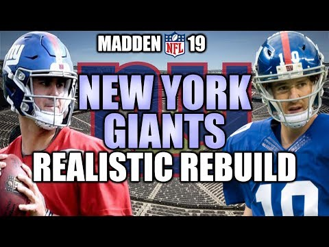 Rebuilding The New York Giants - Madden 19 Connected Franchise Realistic Rebuild