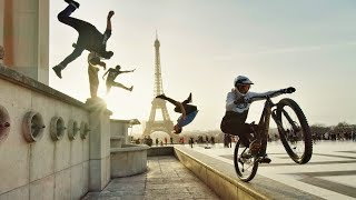 Bike Parkour Jumping from the Highest Roofs in London to Paris! In 8K
