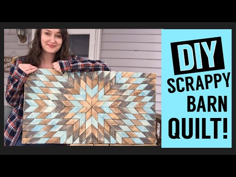 DIY Scrap Wood Quilt || Rustic Wall Art