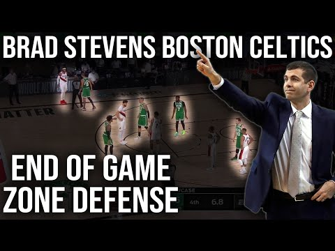 Brad Stevens Boston Celtics End of Game Zone Defense | NBA Film Room