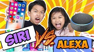 SIRI VS ALEXA PICKS MY SLIME INGREDIENTS CHALLENGE * EXTREME *