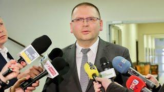 Konferencja prasowa Prezesa Sądu Rejonowego w Olsztynie po Kolegium Sądu Okręgowego