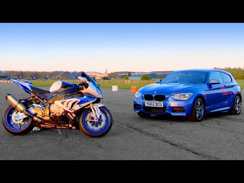 BMW M135i vs BMW HP4 - Fifth Gear
