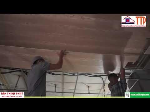 Thi công trần nhựa giả gỗ