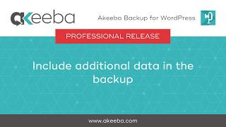 Watch a video on Include Additional Data in the Backup [06:27]