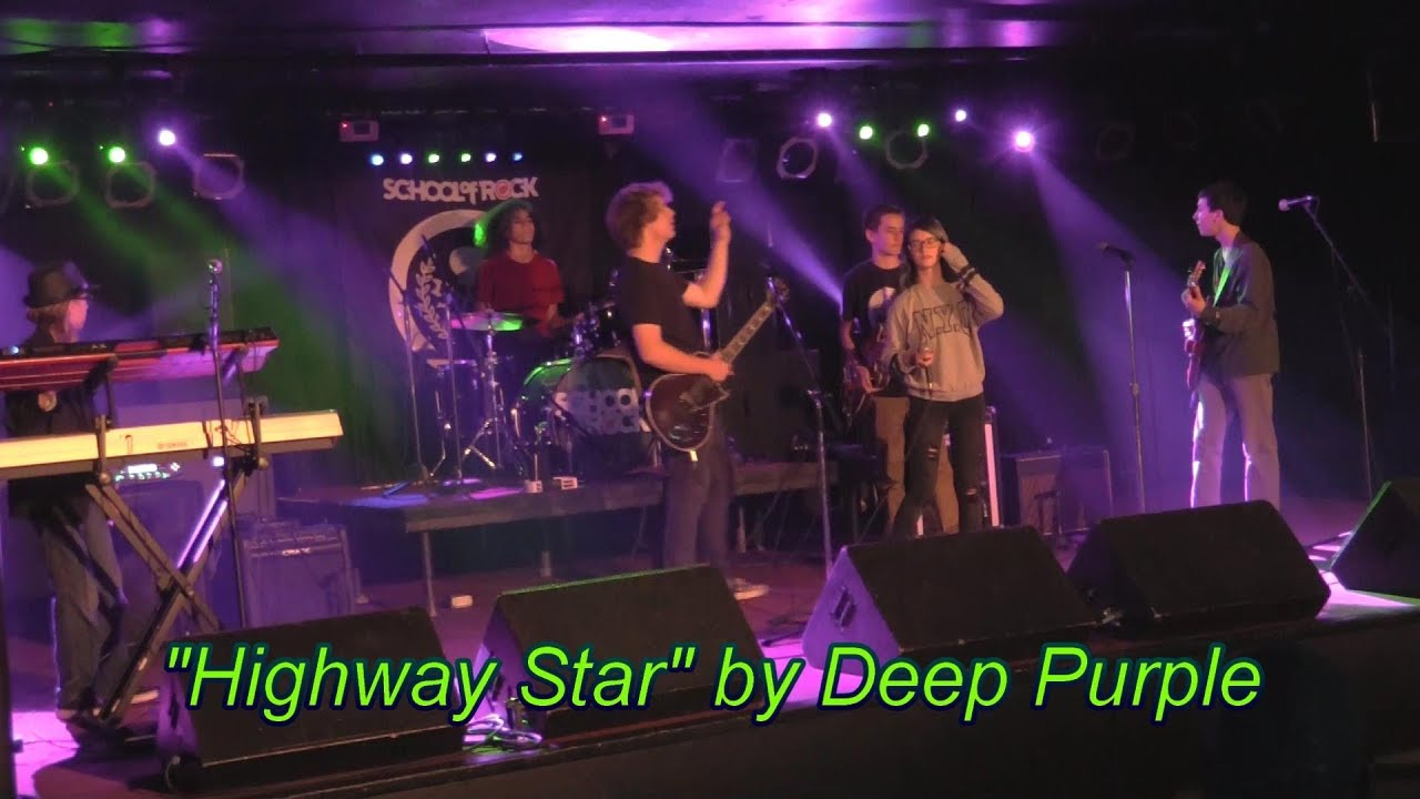 Performing Highway Star by Deep Purple