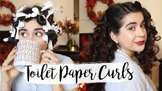 Vintage Hair Using Toilet Paper | Comfy Fluffy Curls