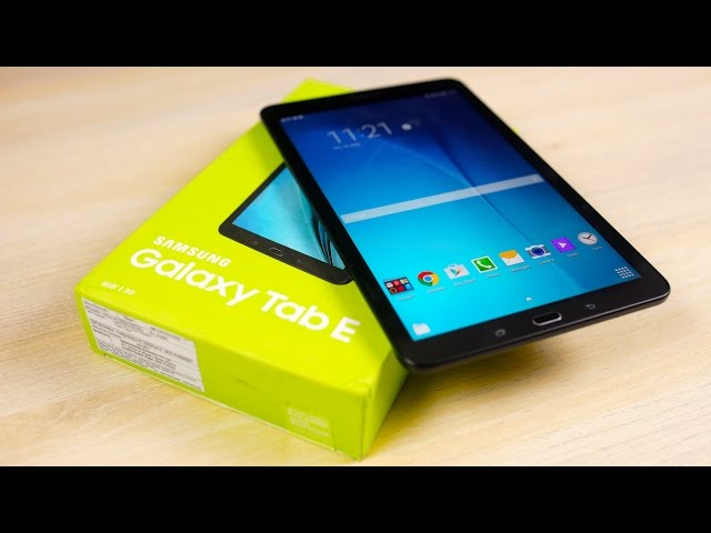 Galaxy Tab E Unboxing Hands On