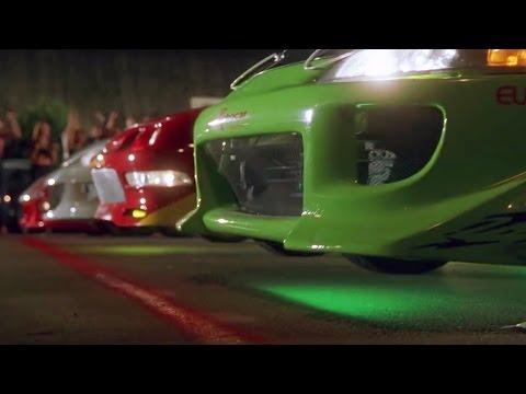 FAST and FURIOUS - Street Race (RX7 vs Civic vs Integra vs Eclipse) #1080HD +car-info