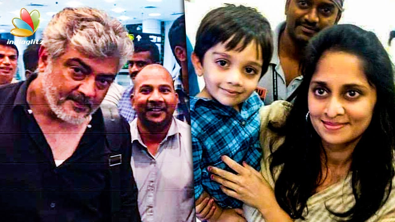 Kutty Thala and Ajith Surprise Meet With Fans at the Airport | Cinema News | Shalini Son Aadvik