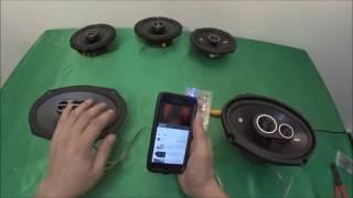 KICKER DS693 vs Alpine SPS-619 sound bass test