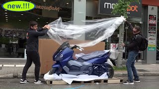 unboxing the new SYM TL500 scooter 2020