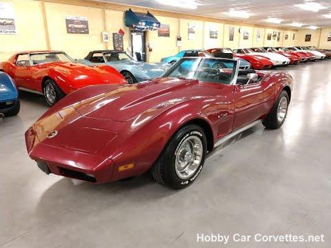 1974 Dark Red Corvette Convertible Big Block Automatic For Sale Video
