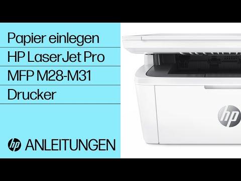 Einlegen von Papier in HP LaserJet Pro MFP M28-M31 Drucker