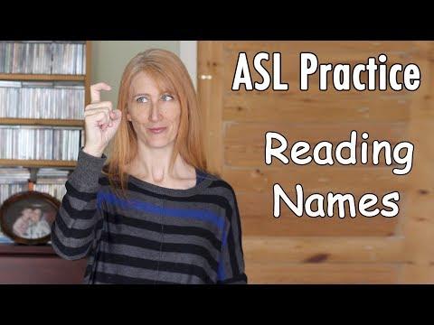 Practice Reading ASL Names | Learn fingerspelling