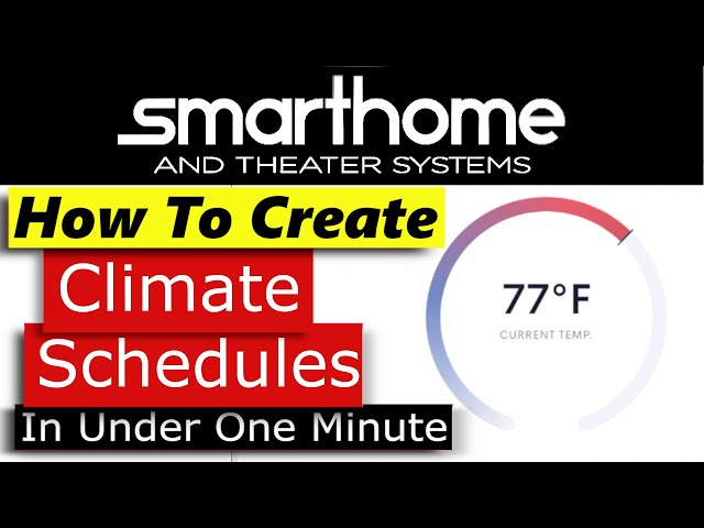 Crestron Home OS How to Create Climate Schedule Events