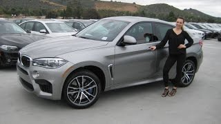 ALL   NEW BMW X6 M Donington Grey  Mugello Red Leather  Exhaust Sound Review X6M