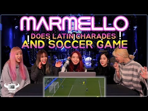 K ROCK BAND MARMELLO DOES LATIN CHARADES AND SOCCER GAME!