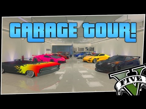 GTA V - Garage Tour Video   All of My Favorite Cars!!