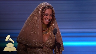 Beyoncé Wins Best Urban Contemporary Album | Acceptance Speech | 59th GRAMMYs