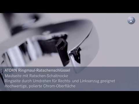 ATORN Knarren-Ringmaulschlüssel mit beidseitiger Ratschenfunktion