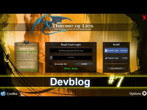 Throne of Lies - Devblog #7 - Login Screen...