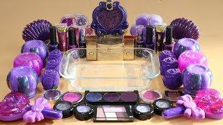 One Color Series Season 7 Mixing Purple Makeup,More Stuff &Purple Slime Into Slime!
