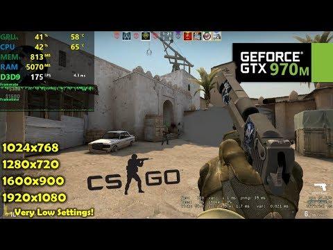 GTX 970M | CSGO - 1080p, 900p, 720p, 1024x768 !