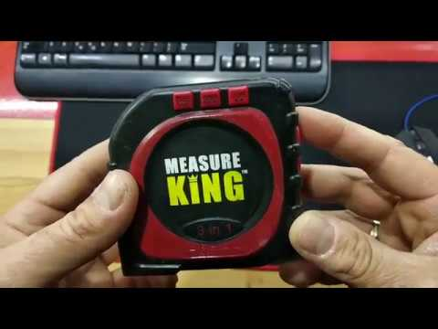 Measure King 3-in-1 Digital Tape Measure String Mode Sonic Mode and Roller Mode