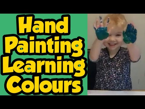 Learning colours - paint experiments - creative play