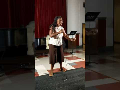 """Performing """"Im here"""" from the Color Purple at the CCM Vocal Pedagogy Institute"""