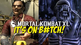OH SH#T! LEATHERFACE AND ALIEN!! [MKXL] [GAMEPLAY!]