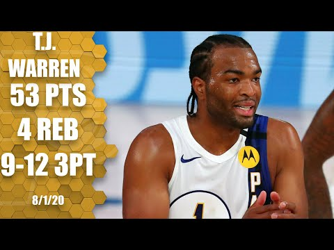 T.J. Warren GOES OFF for 53 points vs. 76ers | 2019-20 NBA Highlights